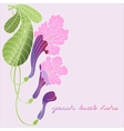 Leaflet with exotic flowers vector image vector image