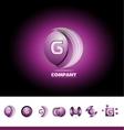 Letter G sphere 3d logo vector image vector image