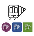 line icon of train in different variants vector image