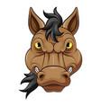 mascot head an angry horse vector image vector image