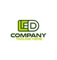 modern led logo vector image