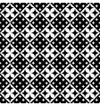 monochrome geometrical curved star pattern vector image vector image
