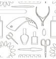 nail salon set pattern vector image vector image