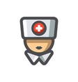 nurse female doctor icon cartoon vector image