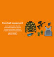 paintball equipment banner horizontal concept vector image vector image