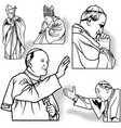 Pope set vector image vector image