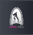 rabies virus logo icon design vector image vector image