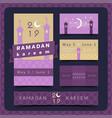 ramadan kareem greeting card set with vector image