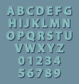 Retro style alphabet concept vector image