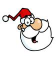 Santa Claus Head Portrait vector image vector image
