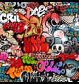 seamless graffiti pattern vector image vector image