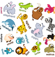 seamless pattern animals vector image vector image