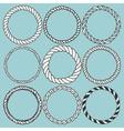 set 9 decorative circle border frames vector image