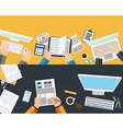 set flat design concepts for business finance vector image vector image