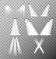 Set of stage lights vector image vector image