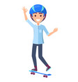 skateboarder teenager smiling vector image vector image