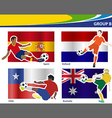 soccer football players brazil 2014 group b vector image vector image