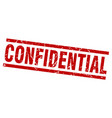square grunge red confidential stamp vector image vector image