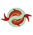 two fishes vector image vector image