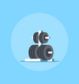 weights rack for barbell vector image vector image