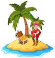 women Pirate in the treasure island vector image vector image