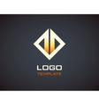 Fire logo template Fashion Jewelry luxury vector image
