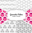 Five patterns vector image
