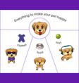 pet shop elements vector image