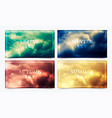 a collection 4 seasonal banners with summer vector image