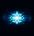 abstract technological background concept vector image vector image