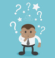 african businessmen are confused in question vector image vector image
