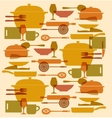 background of kitchenware set vector image vector image