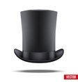 Black big gentleman hat cylinder vector image vector image