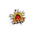 boom explosion comic book sound cloud blast vector image vector image