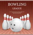 bowling league concept background realistic style vector image