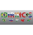 BRICS Peoples and letters in the colors of the vector image