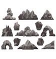 cartoon 3d rock and stone set vector image vector image