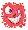 cartoon funny cute monster character halloween vector image