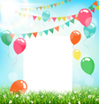 celebration background with frame buntings air vector image vector image