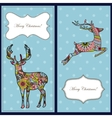 Christmas cards with deers vector image