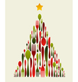 Christmas Tree Cutlery vector image vector image