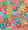 colorful flower element on seamless background vector image vector image