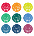 Colorful sale tags with laurel wreath vector image vector image