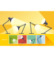 Concept reading-lamp flat design vector image