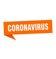 coronavirus speech bubble coronavirus ribbon sign vector image vector image