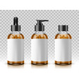 cosmetic bottles isolated on transparent vector image vector image