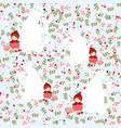cute red hood girl and polar bear seamless pattern vector image vector image