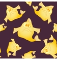 Dark seamless background The yellow fish vector image vector image