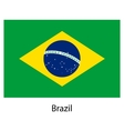 Flag of the country brazil vector image