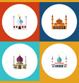 flat icon minaret set of islam traditional vector image vector image
